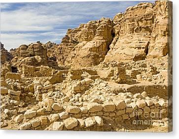 Neolithic Village, Beidha, Jordan Canvas Print by Adam Sylvester