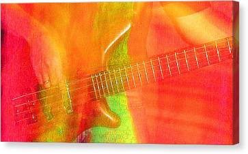 Neon Bass Fusion Canvas Print by James Hammen