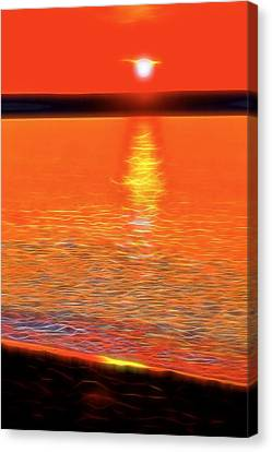 Neon Beach Sunset Canvas Print by Dan Sproul