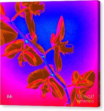 Neon Blooms Canvas Print by Geri Glavis