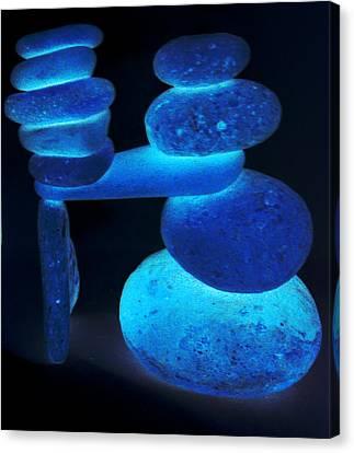 Neon Calming Of Nerves Canvas Print by Branko Jovanovic