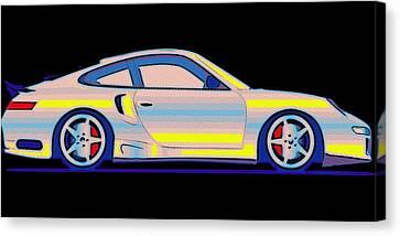 Break Fast Canvas Print - Neon Carrera Dream by Florian Rodarte
