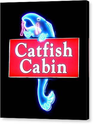 Neon Catfish Cabin  Canvas Print