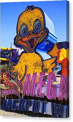 Neon Duck Canvas Print by Garry Gay