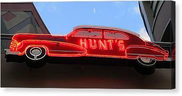 Neon Hunts Canvas Print