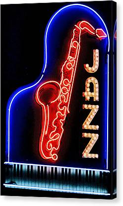 Neon Jazz Canvas Print by Nadalyn Larsen