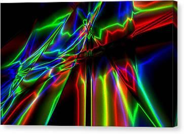 Neon Lightning Canvas Print by Krazee Kustom