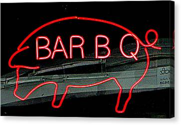 Neon Pig Canvas Print by Randall Weidner