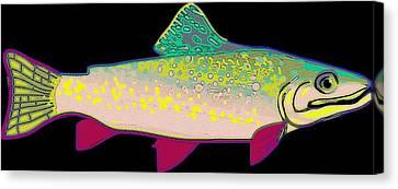 Neon Rainbow Trout Canvas Print by Florian Rodarte