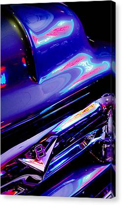 Ford V8 Canvas Print - Neon Reflections - Ford V8 Pickup Truck -1044c by Jill Reger