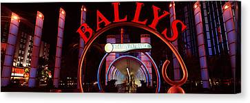 Monorail Canvas Print - Neon Sign Of A Hotel, Ballys Las Vegas by Panoramic Images