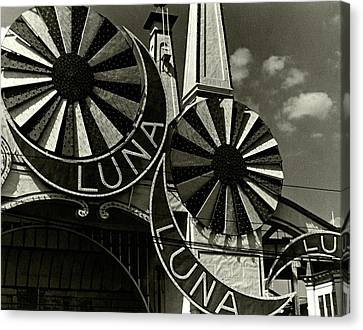 Amusements Canvas Print - Neon Signs Of Luna Park by Lusha Nelson