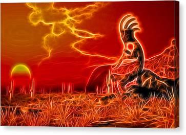Neon Southwest Canvas Print