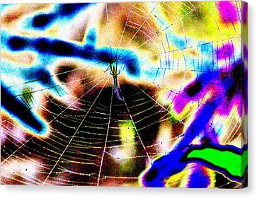 Neon Spider Canvas Print