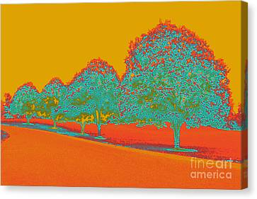 Neon Trees In The Fall Canvas Print