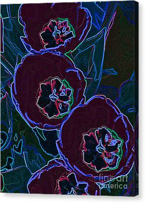 Neon Tulips Canvas Print