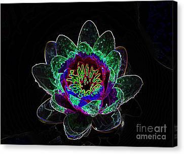 Neonflower Canvas Print