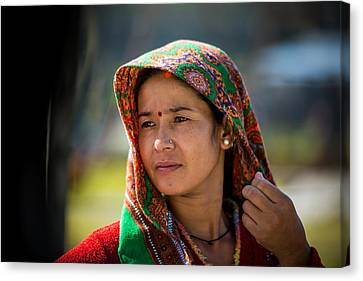 Nepali Woman Canvas Print by Tony Murray