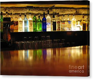 Nepenthe's Bottles Canvas Print by James B Toy