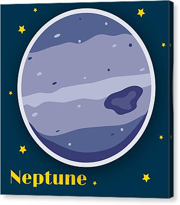 Neptune Canvas Print by Christy Beckwith