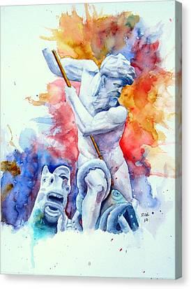 Neptune Piazza Navona  Canvas Print by Sof Georgiou