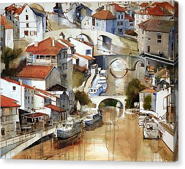 Nerac France Canvas Print by Shirley  Peters