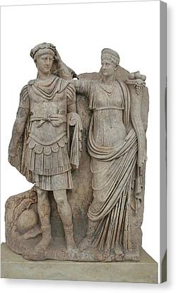 Aphrodisias Canvas Print - Nero And His Mother Agrippina by Tracey Harrington-Simpson