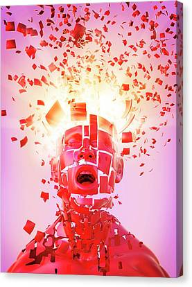 Psychiatric Canvas Print - Nervous Breakdown by Tim Vernon