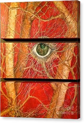 Canvas Print featuring the painting Nesting by Delona Seserman