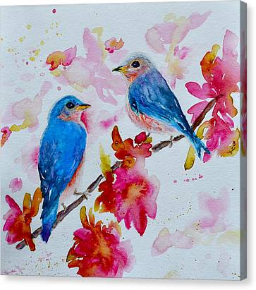 Nesting Pair Canvas Print by Beverley Harper Tinsley
