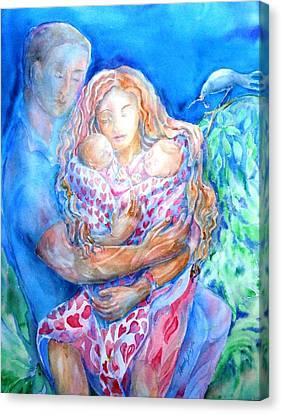 Nesting Pair  Canvas Print by Trudi Doyle