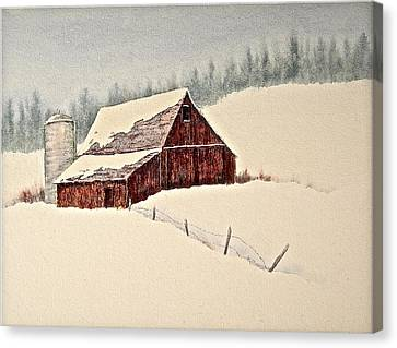 Nestled In White Canvas Print by Carolyn Rosenberger