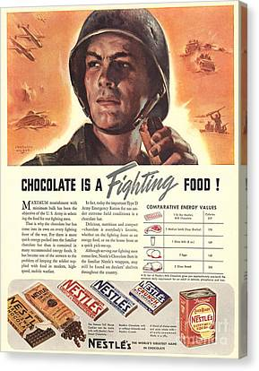 Nestle�s 1940s Usa Propaganda Chocolate Canvas Print by The Advertising Archives