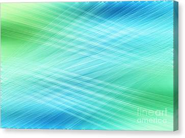 Hannes Cmarits Canvas Print - Net - Blue by Hannes Cmarits