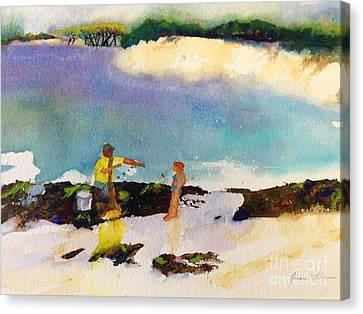 Net Fishing Canvas Print
