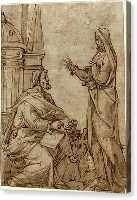 Netherlandish 16th Century, Saint Luke, Second Half 16th Canvas Print by Quint Lox