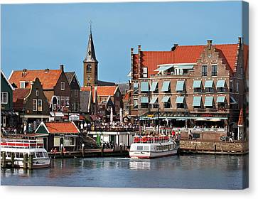 Red Roof Canvas Print - Netherlands, Edam-volendam, View by Miva Stock