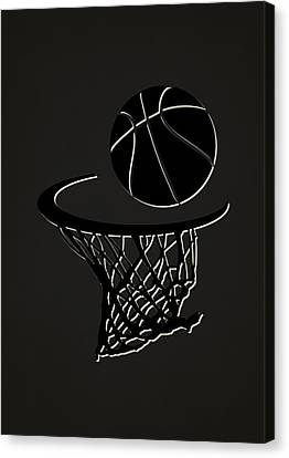 Nets Team Hoop2 Canvas Print