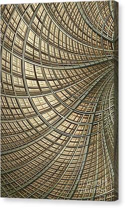 Network Gold Canvas Print by John Edwards