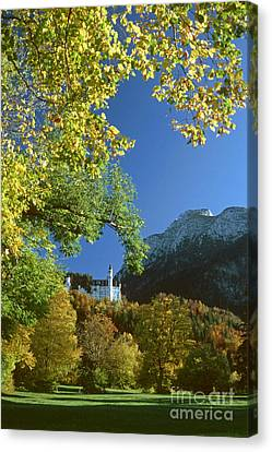 Neuschwanstein Castle Bavaria In Autumn Canvas Print by Rudi Prott