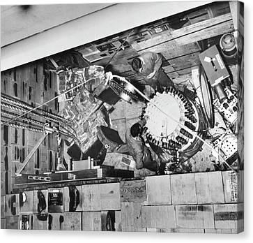 Neutrino Scintillation Detector Canvas Print by Los Alamos Scientific Laboratory, Emilio Segre Visual Archives/american Institute Of Physics