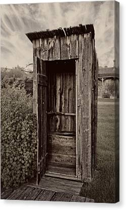 Nevada City Ghost Town Outhouse - Montana Canvas Print by Daniel Hagerman