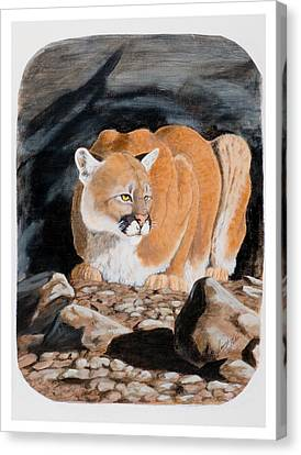 Nevada Cougar Canvas Print