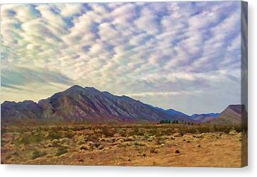 Canvas Print featuring the painting Nevada Gold by Steven Richardson