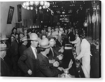 Nevada, Open Gambling In Reno, Looking Canvas Print by Everett