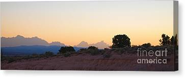 Nevada Sundown Canvas Print