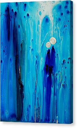 Abstract Art Canvas Print - Never Alone By Sharon Cummings by Sharon Cummings