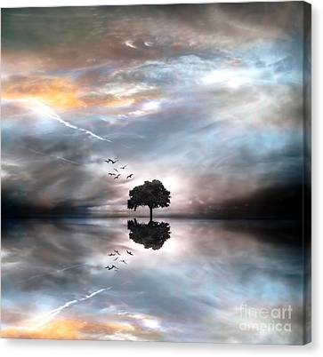 Never Alone Canvas Print by Jacky Gerritsen