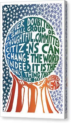 Margaret Canvas Print - Never Doubt by Ricardo Levins Morales