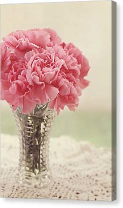 Pink Carnation Canvas Print - Never Ending Love by Kim Hojnacki